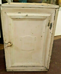 Charming Antique Vintage Bread And Cake Cabinet Breadbox Pie Safe