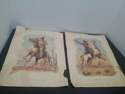 The Lone Ranger And Silver/tonto And Scout Set Of 1943 Merita Bread Premium...