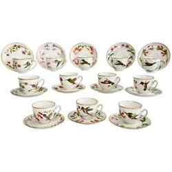 Set Of 12 Vintage Bavaria Cups And Saucers Hummingbirds Of The World 1979