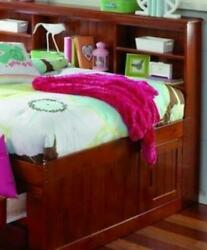 Grace Full Daybed With Bookcase Headboard Trundle And Three Storage Drawers