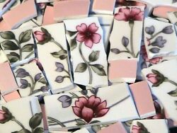 Mosaic Tiles 100 Flowers Under Pink Sky Lot 1 Free Shipping
