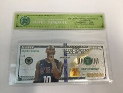 Silver 1 Million Kobe Bryant La Lakers Banknote With Bag And Certificate