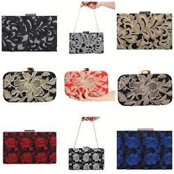Women Crystal Clutches Handbags Evening Bags Prom Party Womens Bags Purse Wallet $20.24