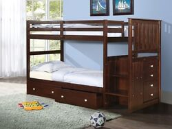 Kids Bunkbeds With Stairs And Storage Drawers