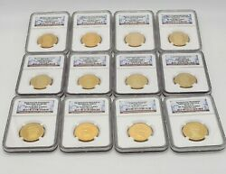 Gold Presidential Dollar Set Ngc Pr70 Ultra Cameo All 39 Coins  Last One