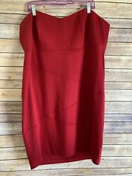Womens Torrid Strapless Red Cocktail Dress Size 24 Red Mini Clubbing NEW Party