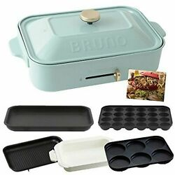 Bruno Compact Hot Flat And Takoyaki And Pan And Grill And Multi Plate Boe021 Blue Gray