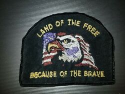 Land Of The Free Because Of The Brave Military Sew On/iron On Patch   10093