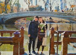 Custom Couple Oil Portrait On Canvas, Photo To Painting, Art Commission