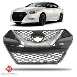 Fits Nissan Maxima 2016-2018 Front Upper Grille Chrome Abs Factory