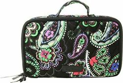 New Vera Bradley Blushamp;Brush Makeup Case Kiev Paisley Cosmetic Bag Black Multi $22.66