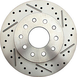 64-72 Gm A Body 2 Drop Front Rear Disc Brake Drilled Rotors Red Calipers