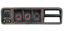 1973-79 Ford Pickup Vhx System Carbon Fiber Style Face Red Display