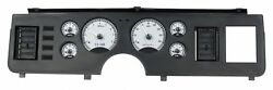 1979-86 Ford Mustang Vhx System Silver Alloy Style Face White Display