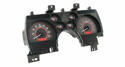 1990-92 Chevy Camaro Vhx System Carbon Fiber Style Face Red Display