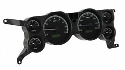 1979-86 Ford Mustang Vhx System Black Alloy Style Face White Display