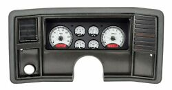 1978-88 Chevy Monte Carlo Vhx System Silver Alloy Style Face Red Display