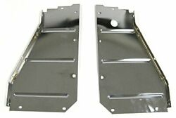 Radiator Core Support Side Filler Panels Chrome Pair 57 Chevy