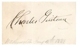 Charles Guiteau - Ink Signature - Assassin Of Us President James A. Garfield