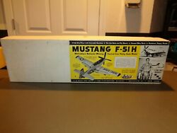 Vintage RARE 1960#x27;s Jetco Mustang F 51H Scale 5quot; 6quot; = 1#x27; Balsa Wood kit Model