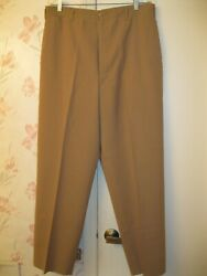 Vintage Nice Ww2 Wwii Us Army Trousers Tan Worsted Wool 36 Waist
