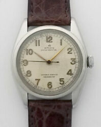 Rolex Oyster Perpetual Chronometer Bubble Back Stainless Steel Ref 4392