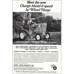 1967 Wheel Horse Tractor Charge Ahead 6-speed Vintage Print Ad
