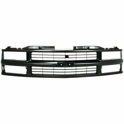New Gm1200239 Grille Painted Black Shell And Insert For Chevrolet C1500 1994-1999