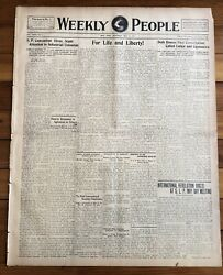 1917 Wwi Newspaper Woodrow Wilson Approves Military Draft Us Enters World War