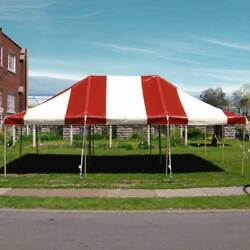 20x30and039 Pole Tent New Red White Premium Canopy With Side Poles Used Center Poles