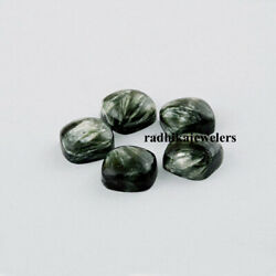 Natural Seraphinite Cabochon Loose Gemstones Cushion Shape Size In 21mm To 25mm