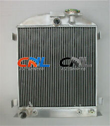 3 Core Aluminum Radiator For Ford Chopped Ford Engine Low Boy 1932 Height 22.5