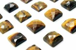 Natural Tiger Eye Loose Gemstones Square Shape Rose Cut Size In 21mm To 25mm