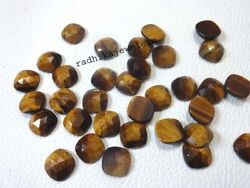 Natural Tiger Eye Loose Gemstones Cushion Shape Rose Cut Size In 21mm To 25mm