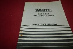 White Oliver Tractor Tillage And Planting Equipment Technical Info Manual Tbpa