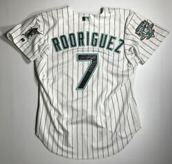 2003 Florida Marlins Ivan Rodriguez Signed Inscribed Team Issued Jersey