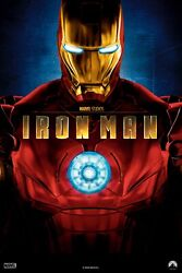 Iron Man Movie Poster Reprint Wall Decal Art Marvel First Movie, Avengers