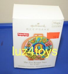 2010 Hallmark Fisher-price Zookeeper Says Ornament New In Box
