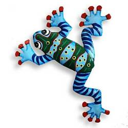 Recycled Oil Drum Frog Wall Hanging - Handmade In Haiti - Fair Trade