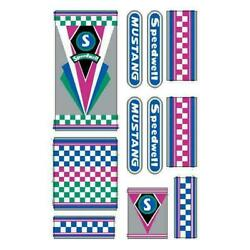 Speedwell Mustang Checkers Dragster Decal Set