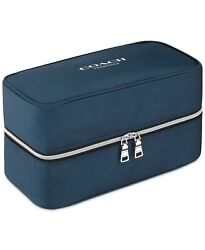 COACH fragrance dark blue vanity TOILETRY cosmetic Dopp kit bag POUCH case new $28.99