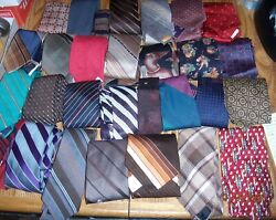 Lot 213 Mens Neckties Silk Polyester Vintage Most Silk Quilt Free Ship In Usa