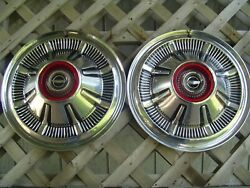 Two Vintage 66 67 68 Galaxie Ford Pickup Truck Bronco Hubcaps Wheel Covers 4+4