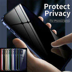 Magnetic Case For iPhone 12 Pro Max Anti Spy Privacy 360° Tempered Glass Cover $12.99