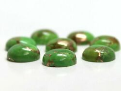 Natural Green Copper Turquoise Loose Gemstones 21mm To 25mm Round Cabochon