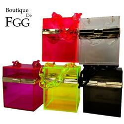 MINI Box Transparent Acrylic Clutch Women Evening Bags Party Cocktail Handbags $22.99