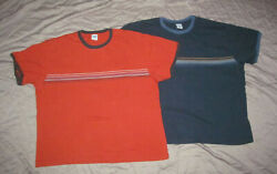 Old Navy Vintage 2001 Mens 2xl Lot 2 Pc Qhw Quality Heavyweight Ringer T Shirts