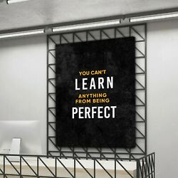 Learn To Earn Motivational Wall Canvas Art Office Decor Entrepreneur Quote