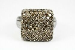 2.0tcw Effy Pave Chocolate Brown Diamond Effy Ring Collection White Gold 14k