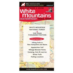 Map Adventures White Mountains Waterproof Trail Map